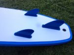 Surfboard Hire Blue Coloured Surfboard Fins