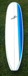 Surfboard Hire White Surfboard With Blue Strips