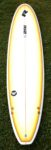 Surfboard Hire White Surfboard With Yellow Edges